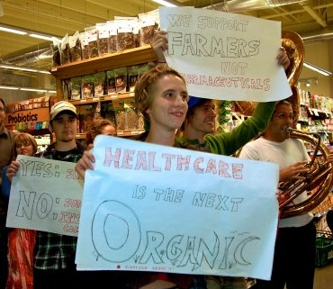 Pro-healthcare protesters at Whole Foods